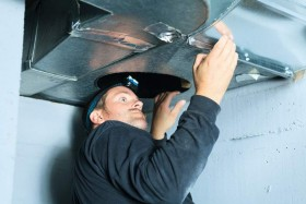 Service your air conditioning and Cleaning Duct - Ductwork cleanouts keep your systems healthier and remove allergens